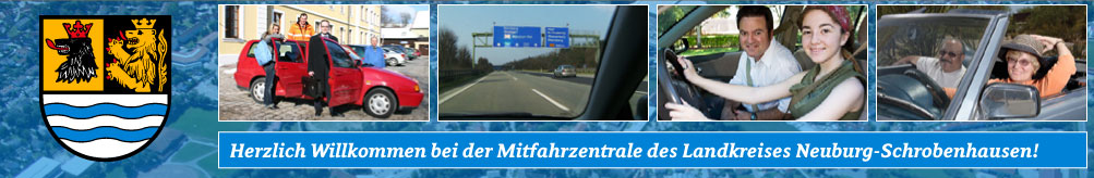 Carpooling-Service in and around the Landkreis Neuburg-Schrobenhausen